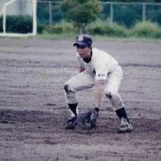 野球をしている写真