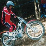 オートバイのトライアル競技