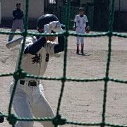 息子(中学生)の野球の試合の応援